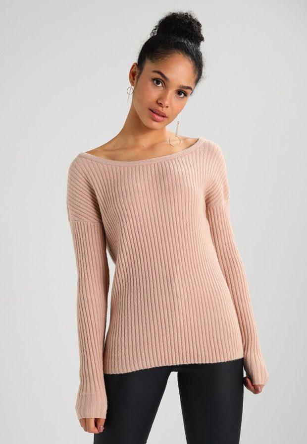 женские модные свитера осень 2019-2020: розовый