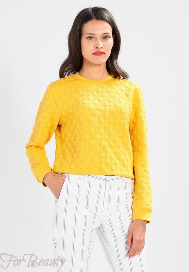 Модный желтый свитер 2018