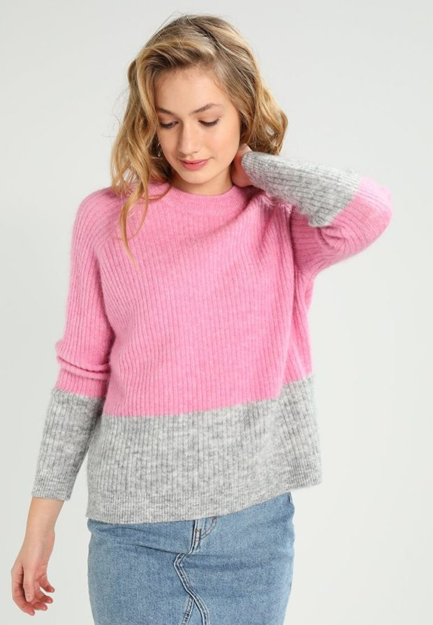 женские свитера 2019-2020: розовый