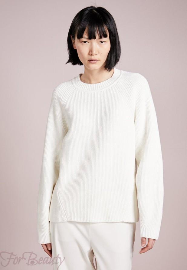 Модный белый свитер 2018