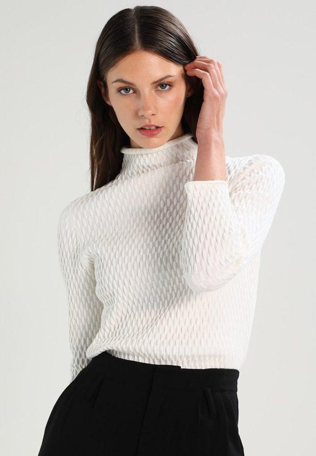 женские свитера 2019-2020: белый