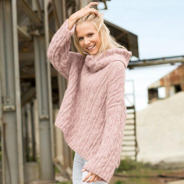 модные свитера осень зима 2019-2020 фото: светло-сиреневый мешковатый