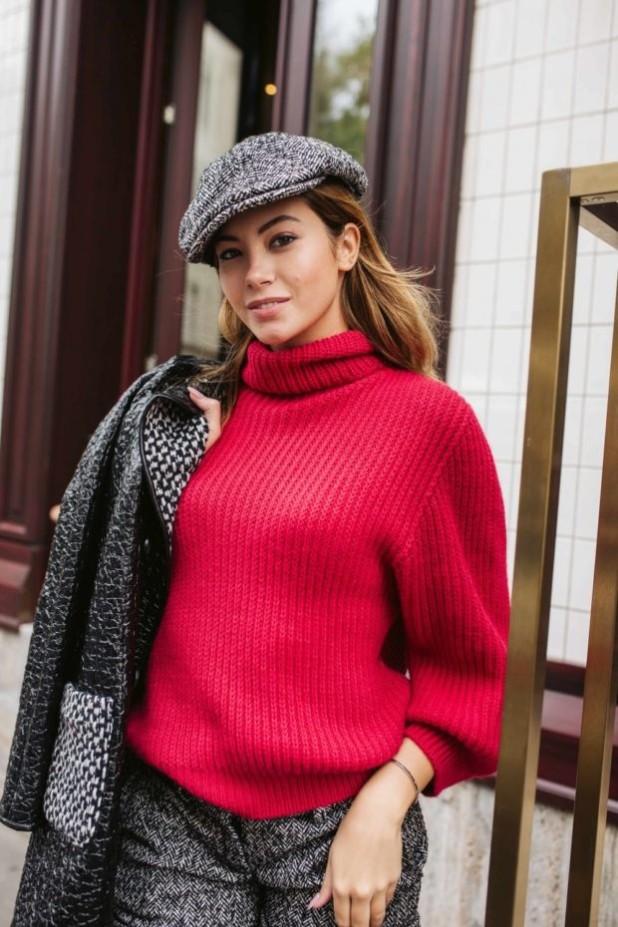 модные свитера осень зима 2018 2019 фото: красный мешковатый