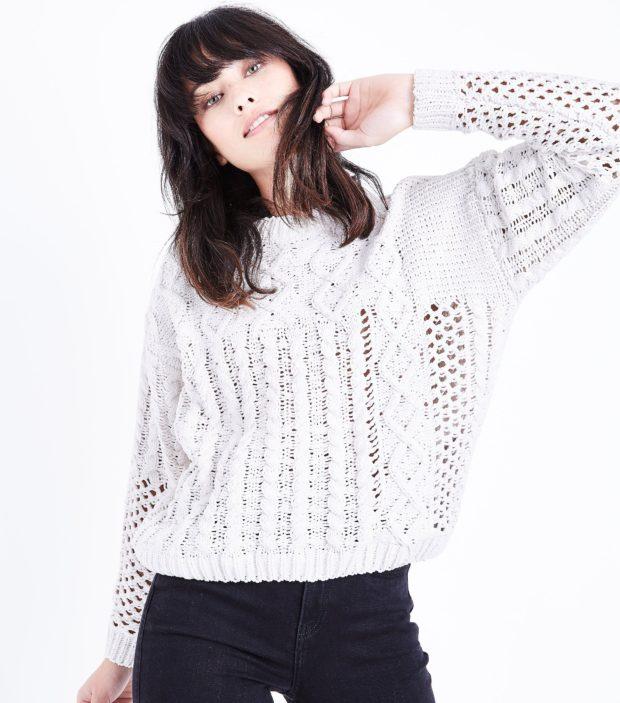 модные женские свитера 2019-2020: белый