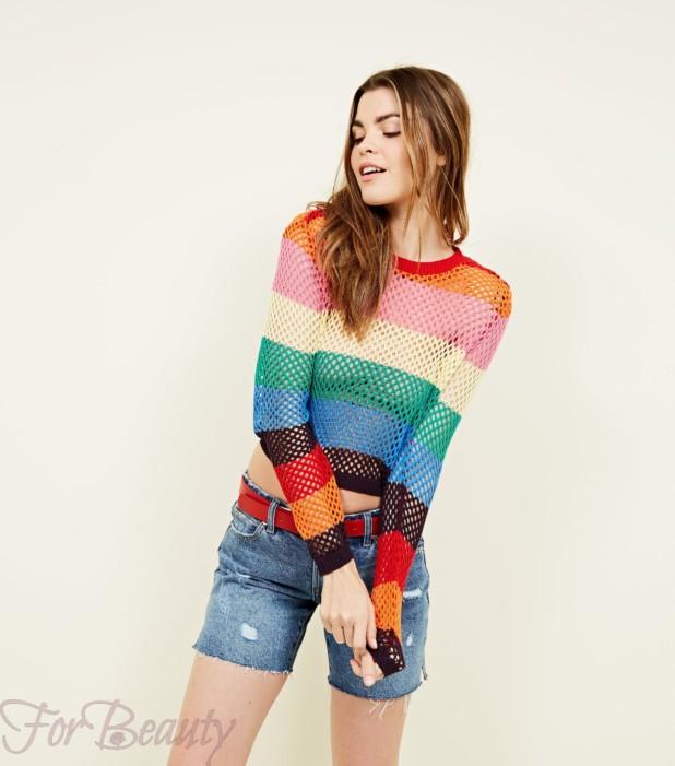 Модный цветной свитер 2018