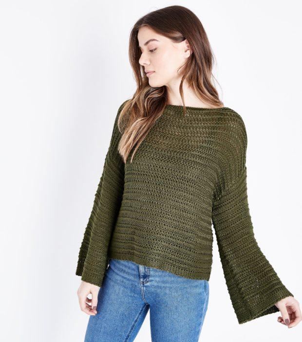 модные женские свитера 2019-2020: зеленый