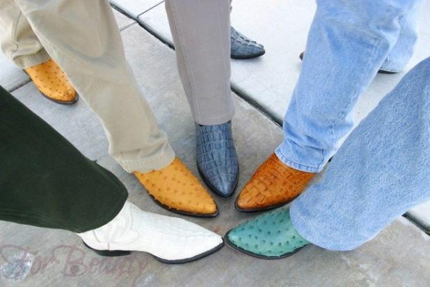 Мужская обувь с острым ретро-носком
