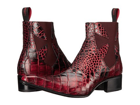 красивая мужская обувь с имитацией кожи рептилий