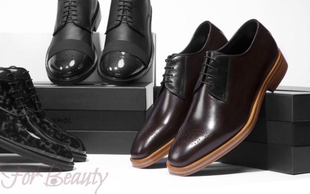 Мужская обувь с острым ретро-носком 2018