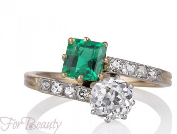 красивые кольца обручальные с камнями 2018
