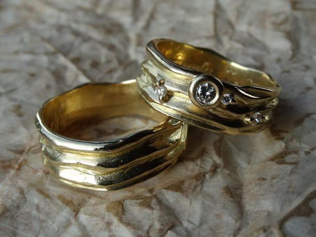 Винтажныеобручальные кольца фото