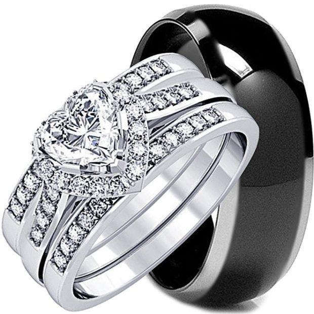 Стильные обручальные кольца черного цвета фото
