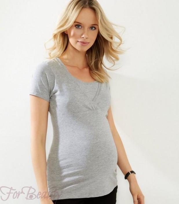 Модная одежда с V-образным вырезом для беременных 2018