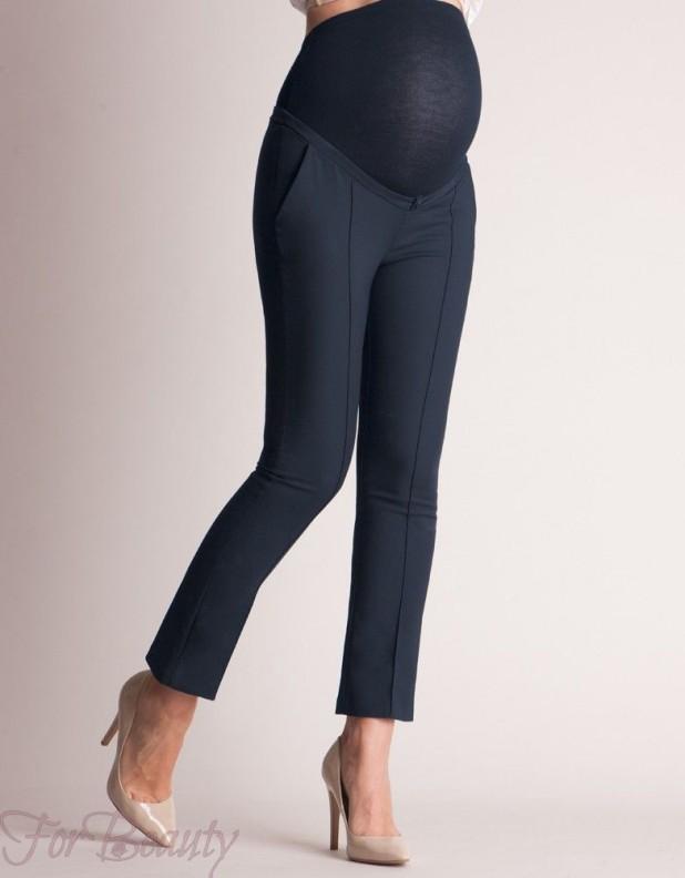 Облегающие модные брюки для беременных 2018 фото