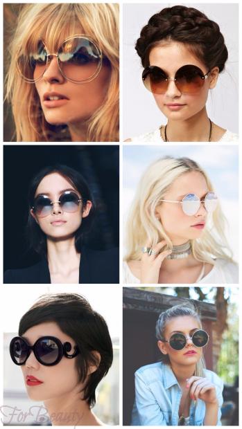 Солнцезащитные очки с круглой оправой 2018 женские тренды