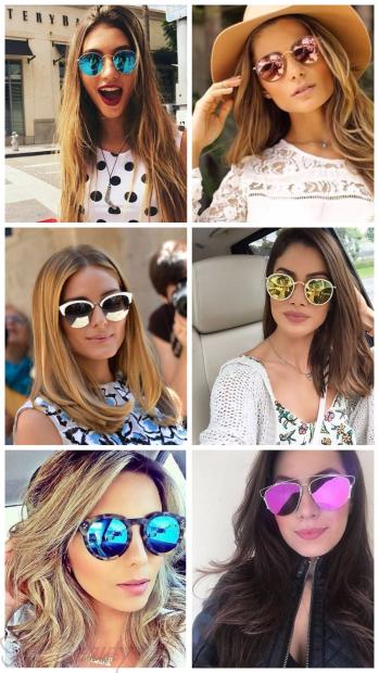 Зеркальные солнцезащитные очки 2018 женские тренды