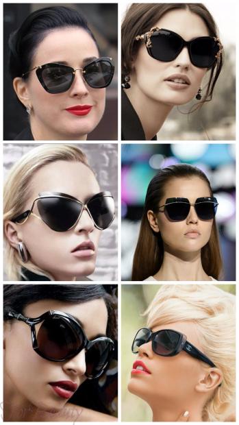 Черные солнцезащитные очки 2018 женские тренды