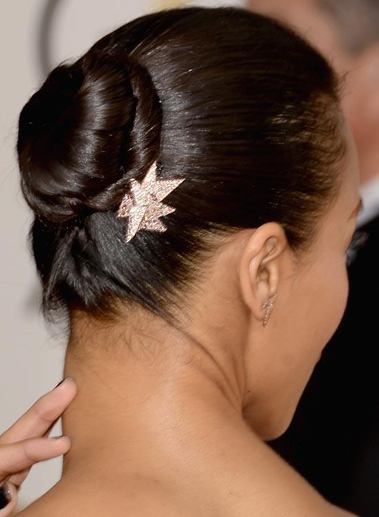 Укладка волос с пучком