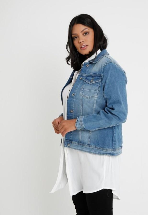 мода для полных: джинсовый жакет