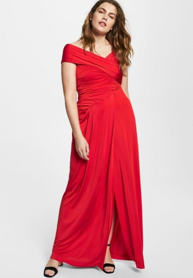 Модное красное платье для полных 2018-2019