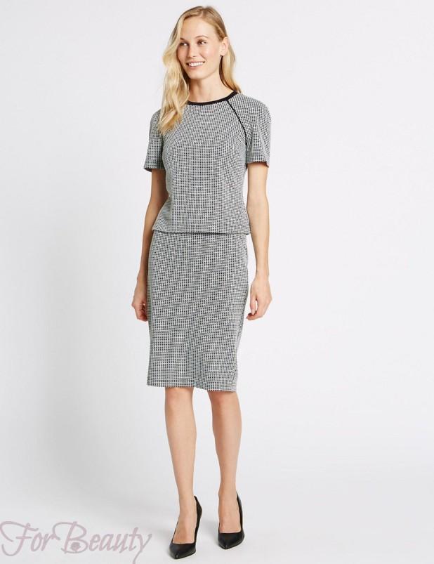 Модные юбки в клетку базовом гардеробе 2018 фото
