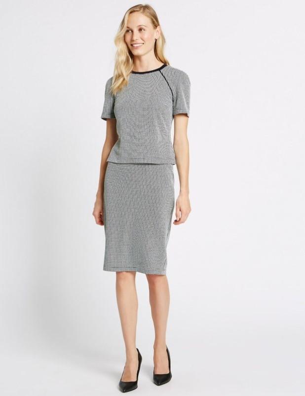 базовый гардероб 2018-2019: Модные юбки в клетку фото