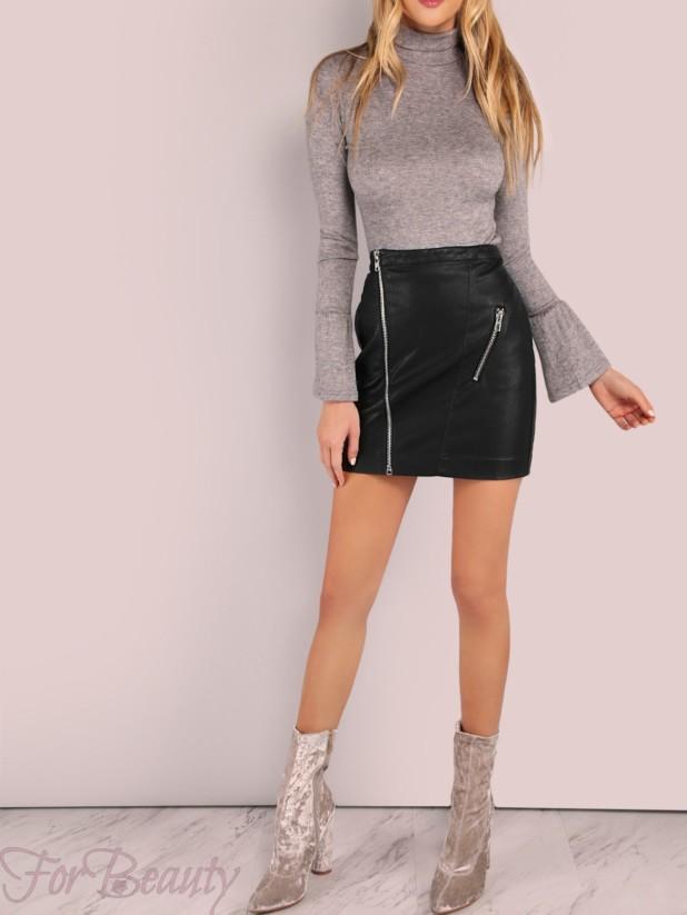 Модные короткие юбки в базовом гардеробе 2018 фото