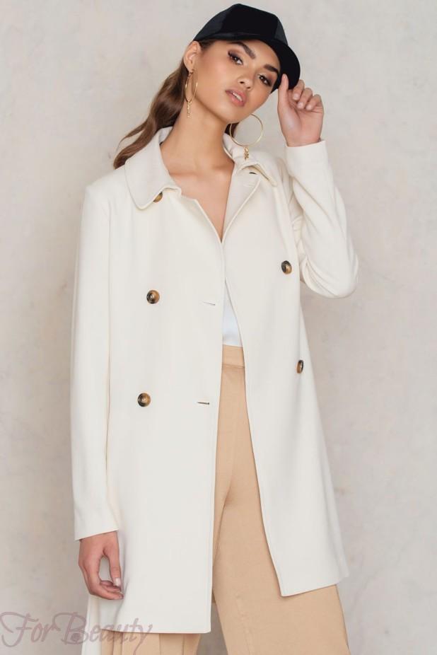 Модные белые пальто в базовом гардеробе 2018 фото
