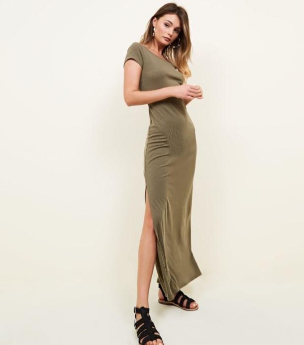Модное оливковое платье в базовом гардеробе 2018-2019