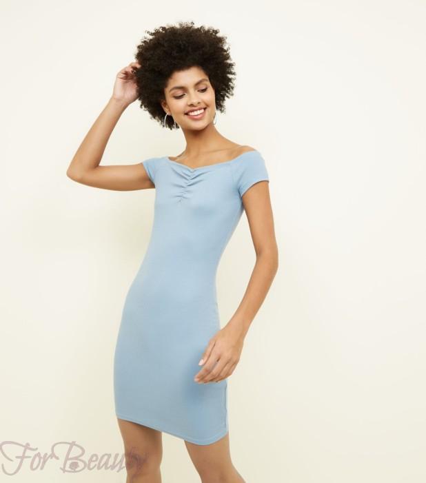 Модное голубое платье в базовом гардеробе 2018