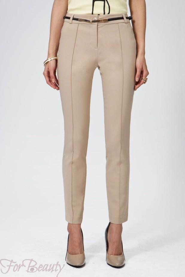 Модные бежевые брюки-дудочки в базовом гардеробе 2018