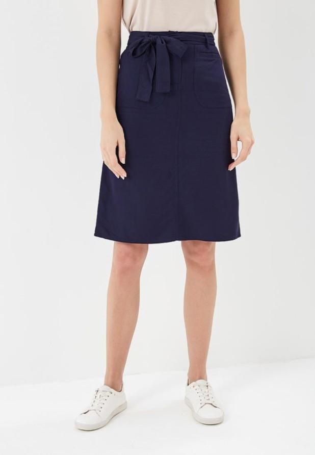 базовый гардероб 2018-2019: Модная синяя юбка