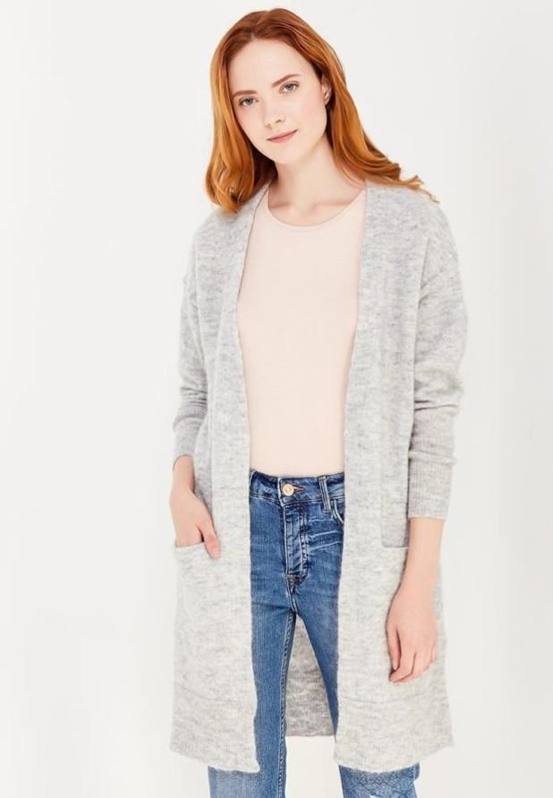 Модный серыйкардиганв базовом гардеробе