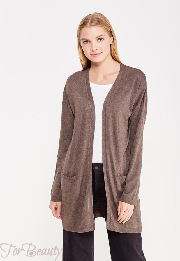 Модный коричневый кардиганв базовом гардеробе 2018