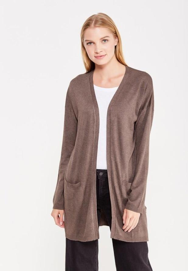 Модный коричневый кардиганв базовом гардеробе