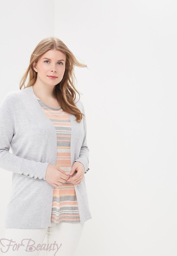 Модный серыйкардиганв базовом гардеробе 2018
