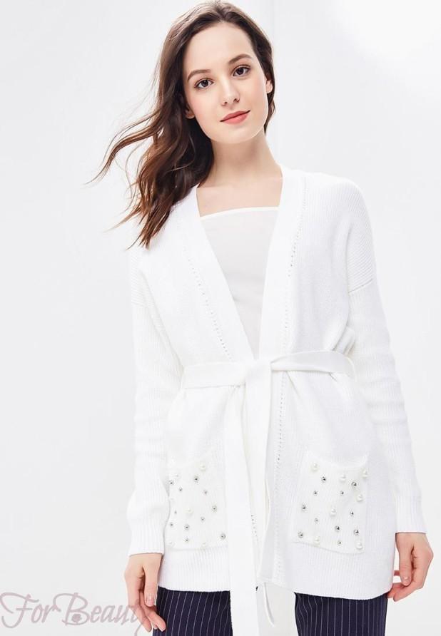 Модный белый кардиганв базовом гардеробе 2018