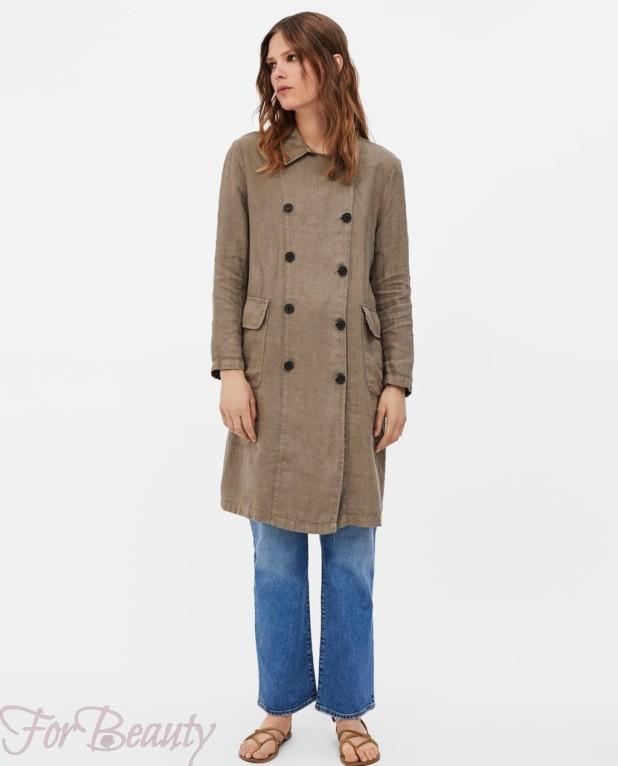 Модное оливковое пальто в базовом гардеробе 2018