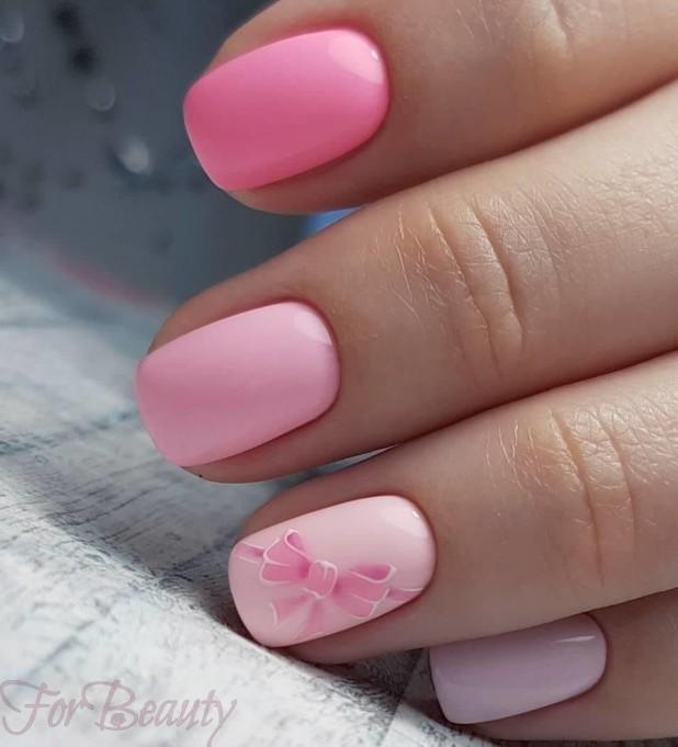 Розовый маникюр 2018 2019