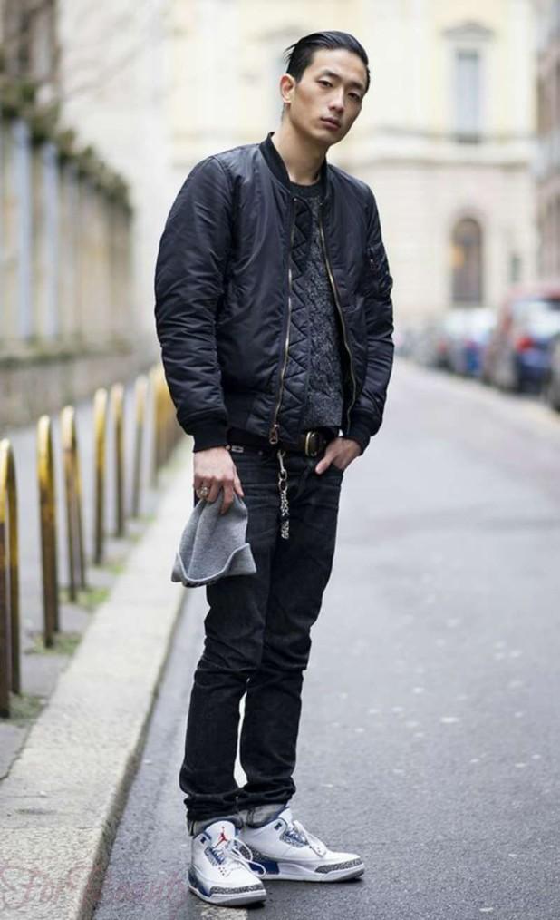 Как носить кроссовки с джинсами мужчинам фото