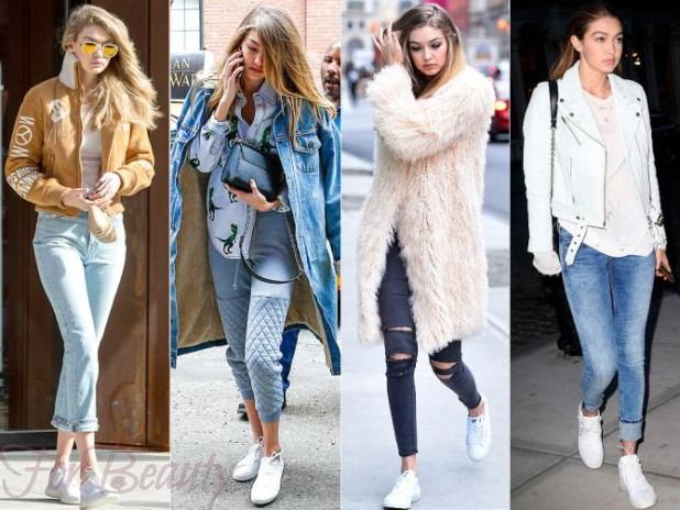 Как правильно сочетать кроссовки с джинсами
