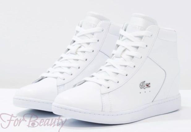 Женские белые высокие кроссовки 2018-2019 фото новинки