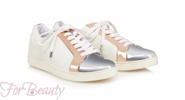 Женские белые цветные кроссовки 2018-2019 фото новинки