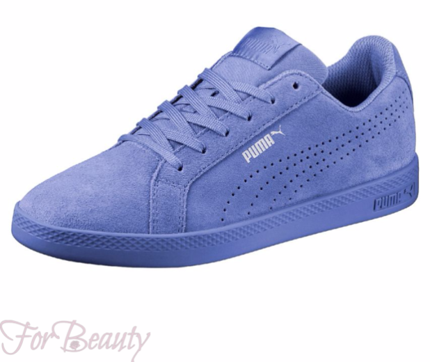 Модные голубые женские кроссовки 2018 фото