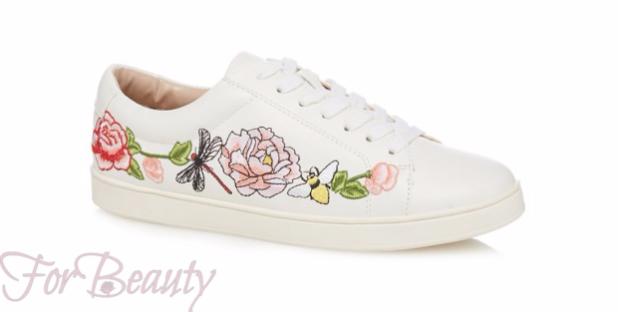 Модный цвет женских кроссовок 2018 фото белый