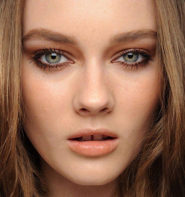 Модный макияж с коричневым оттенком
