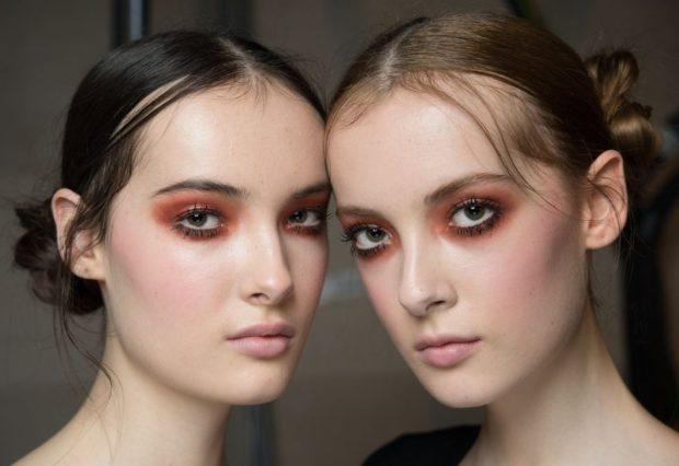 Модный макияж 2019 с коричневыми оттенками лето