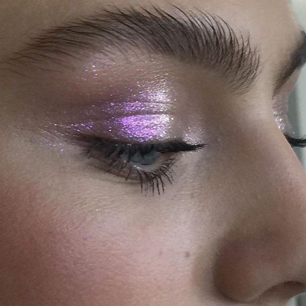 красивый макияж с металлическим эффектом лето