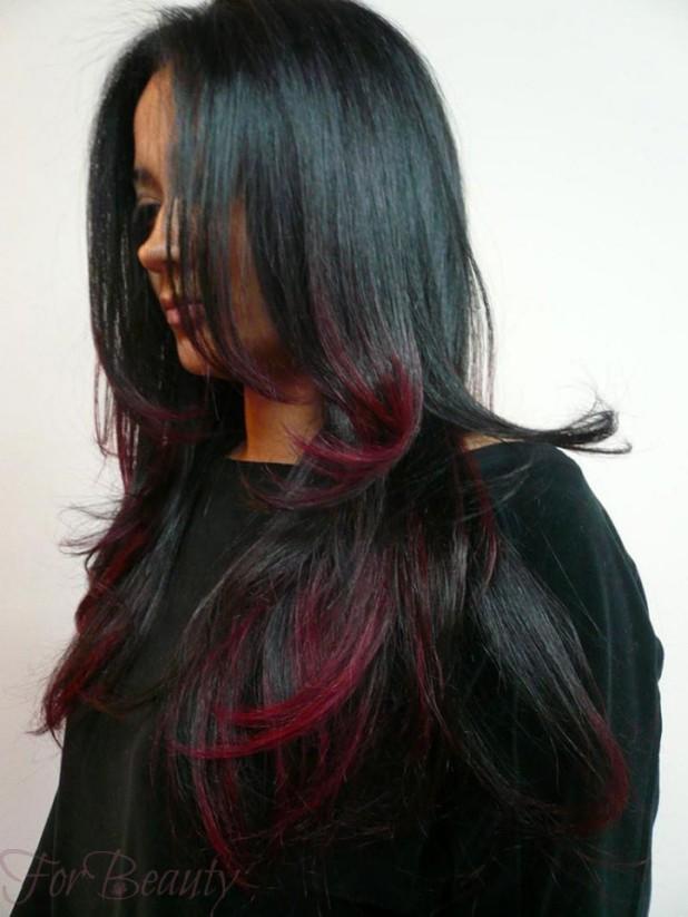 Градиентное мелирование на темные волосы фото