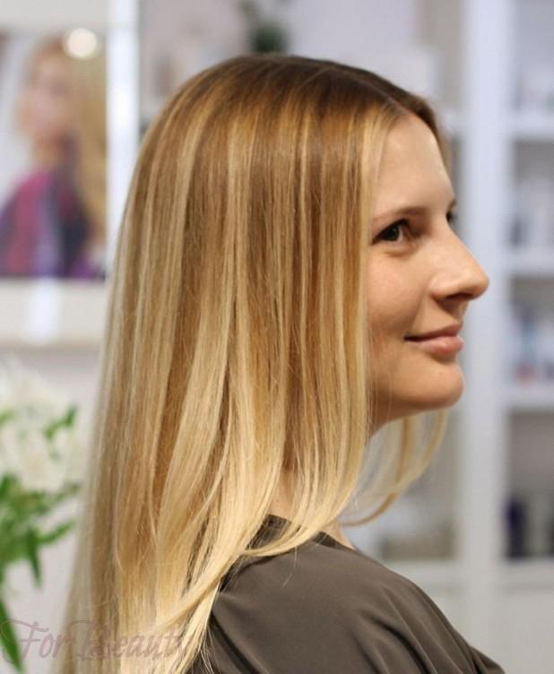 Блондирование на тёмные волосы